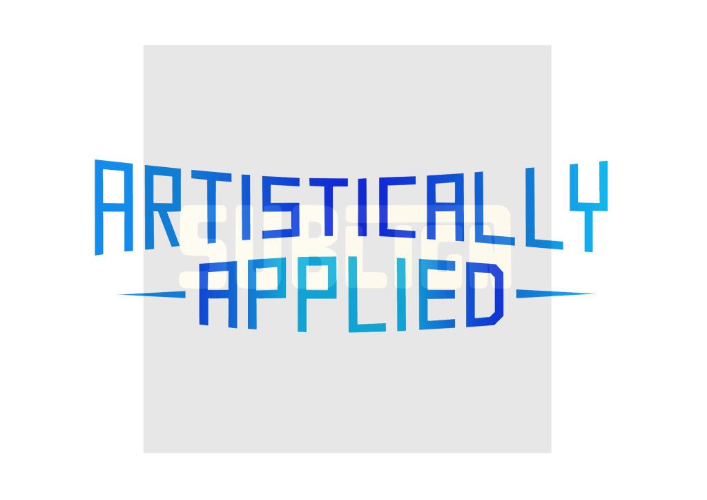 Artistically applied custom lettering