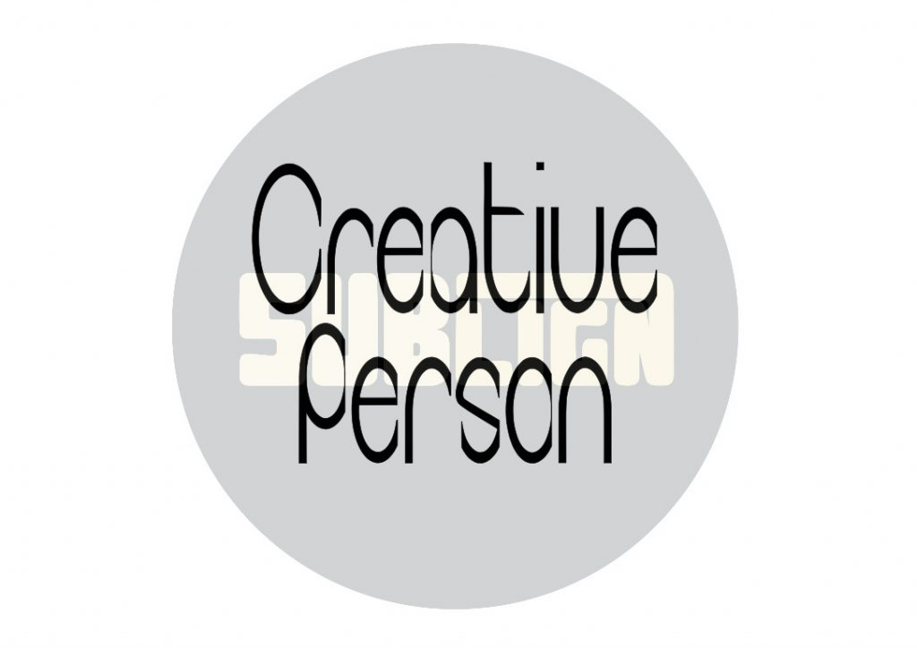 Creative person custom lettering