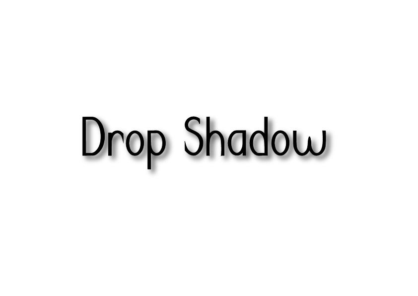 Drop shadow lettering