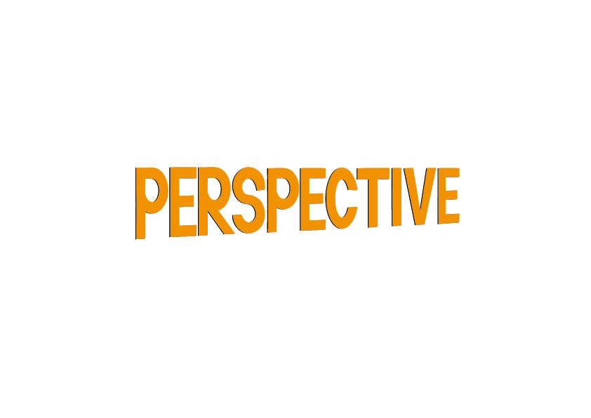 Perspective lettering