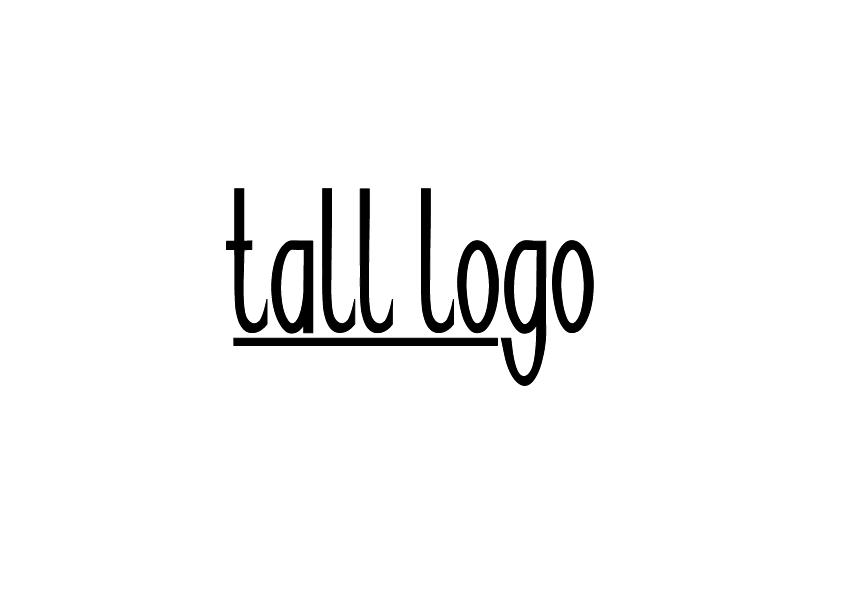 Tall logo lettering
