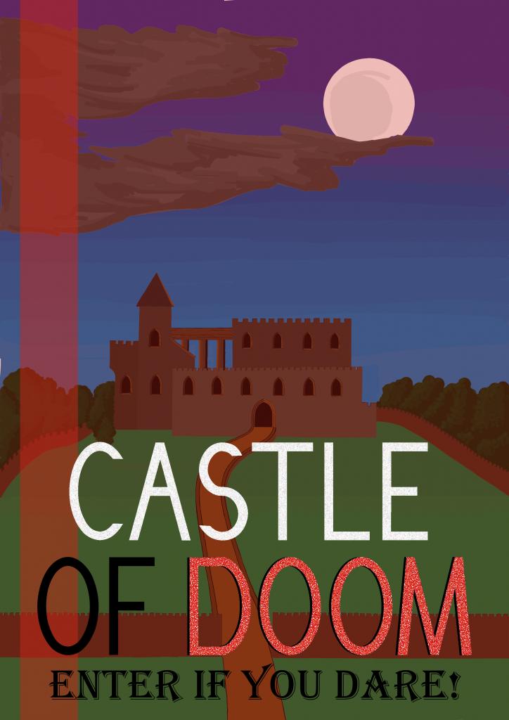 Castle of doom poster design
