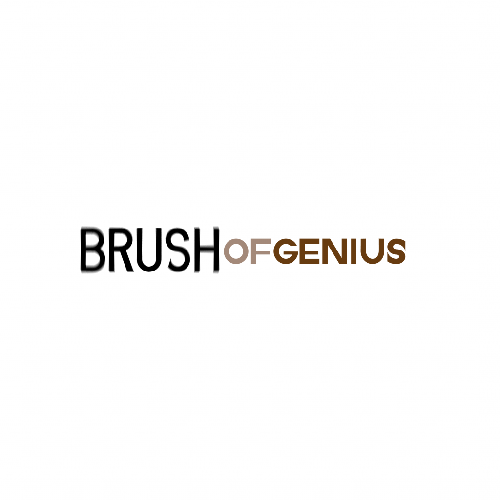Brush of genius logo design