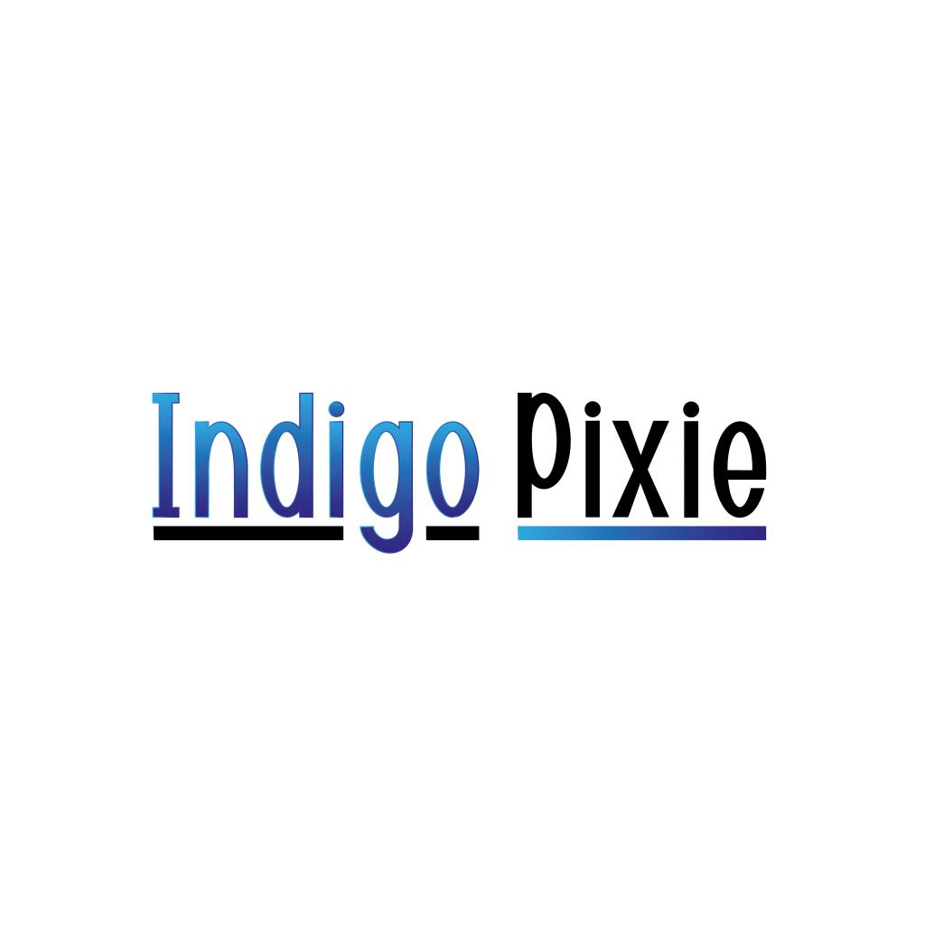 Indigo Pixie logo design
